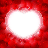 розы лепестков сердца Стоковые Фото