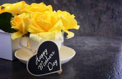Розы дня матерей желтые Стоковая Фотография