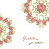 Розы орнамента поздравительной открытки Стоковое фото RF