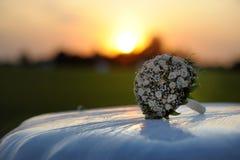 розы пинка клобука автомобиля пука Стоковые Изображения RF