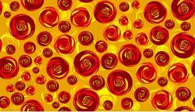 розы предпосылки безшовные иллюстрация вектора