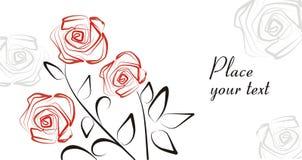 розы предпосылки романтичные Стоковая Фотография