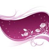 розы предпосылки флористические Стоковые Фото