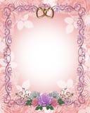 розы приглашения граници wedding иллюстрация вектора