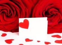 розы пустой карточки Стоковые Изображения