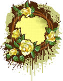 розы рамки ретро Стоковые Фотографии RF