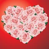розы сердца розовые Стоковая Фотография