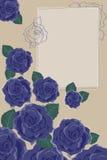 розы сини предпосылки Стоковое Изображение RF