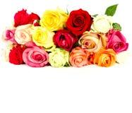 розы цветка красивейшего букета цветастые белые Стоковое Изображение
