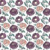 Розы цветут безшовная картина бесплатная иллюстрация