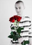 розы человека Стоковое Фото