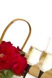 розы шампанского корзины Стоковые Изображения RF