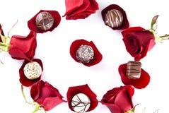 розы шоколадов Стоковые Изображения