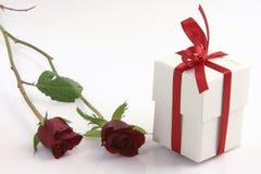 розы 2 коробки Стоковые Изображения
