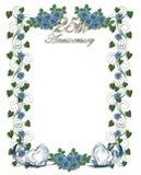 розы 25th годовщины голубые wedding иллюстрация вектора