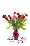 Розы Rd на белизне Стоковая Фотография RF