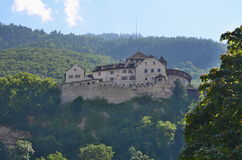 Рокируйте (замок) также вызванный Вадуц, в прошлом Hohenliechtenstein стоковое фото