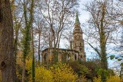 Рокируйте землю/парк Schloss Monrepos, Ludwigsburg Стоковое Изображение RF