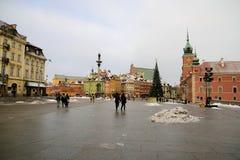 Рокируйте квадрат в Варшаве площади del castillo Varsovia Стоковое Изображение