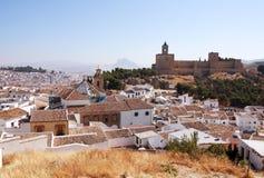 Рокируйте мэр Ла Colegiata de Santa Maria крепости реальный, Antequer Стоковые Фото