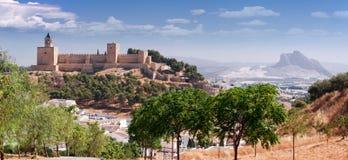 Рокируйте мэр Ла Colegiata de Santa Maria крепости реальный, Antequer Стоковые Фотографии RF
