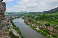 Рокируйте  никакое, замок StreÄ истории Словакии стоковое фото rf