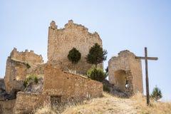 Рокируйте Castillejo de Robledo, Сорию, Кастили-Леон, Испанию Стоковое Изображение