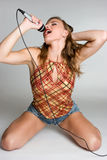 рок-звезда девушки Стоковое Фото