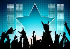 рок-звезда толпы Стоковое Изображение