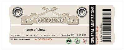 Рок-концерт билета иллюстрация вектора