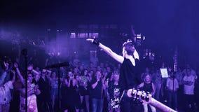 Рок-концерт в реальном маштабе времени Стоковые Изображения