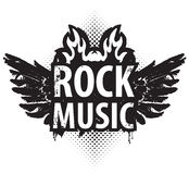 Рок-музыка в огне Стоковые Фото