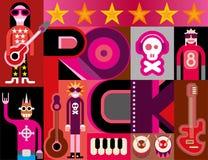 Рок-музыка иллюстрация вектора
