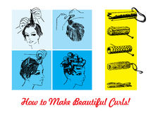 ролики волос бесплатная иллюстрация