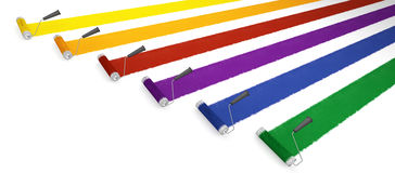 ролики краски Стоковая Фотография