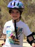 ролик мальчика облопачивания Стоковая Фотография