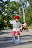 ролик мальчика облопачивания Стоковая Фотография RF