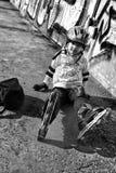 ролик мальчика Стоковая Фотография