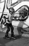 ролик мальчика Стоковая Фотография RF