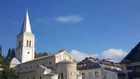 Романо-католическая церковь в Vatra Dornei Стоковое фото RF
