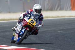РОМАНО FENATI водителя Команда Marinelli Moto3 Энергия Grand Prix изверга Каталонии Стоковое Изображение RF