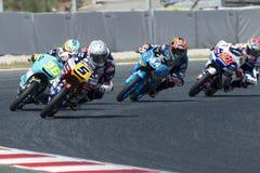 РОМАНО FENATI водителя Команда Marinelli Moto3 Энергия Grand Prix изверга Каталонии Стоковые Фото
