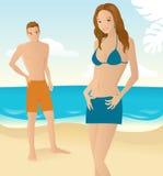 романс пляжа Стоковые Фотографии RF