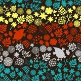 Романтичная безшовная картина с милыми винтажными цветками и птицами иллюстрация вектора