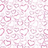Романтичная безшовная картина, текстура Стоковые Фотографии RF