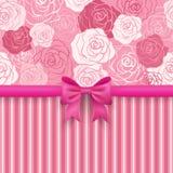 Романтичная безшовная предпосылка. Поздравительная открытка Стоковые Фотографии RF
