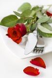 Романтичная еда Стоковое фото RF