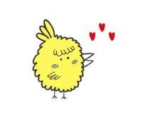 Романтичная иллюстрация вектора птицы Стоковая Фотография RF