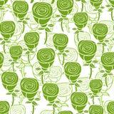 Романтичная картина с абстрактными зелеными розами бесплатная иллюстрация
