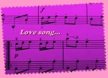 Романтичная карточка дня ` s валентинки! Песня о любви как предпосылка! Симпатичный! Стоковые Изображения RF